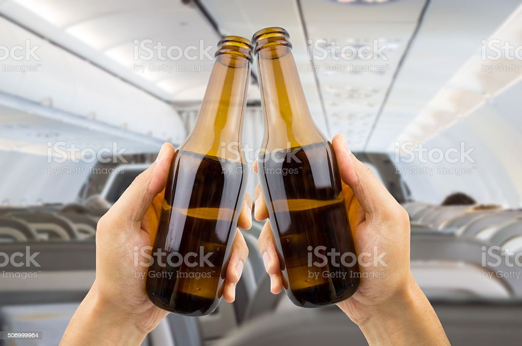 toast on a plane stock photo
