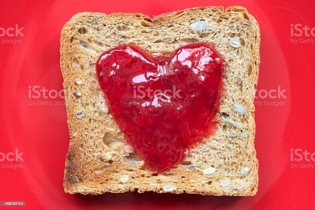 toast on red stock photo