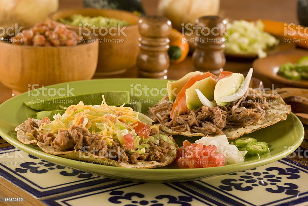 Tostada stock photo