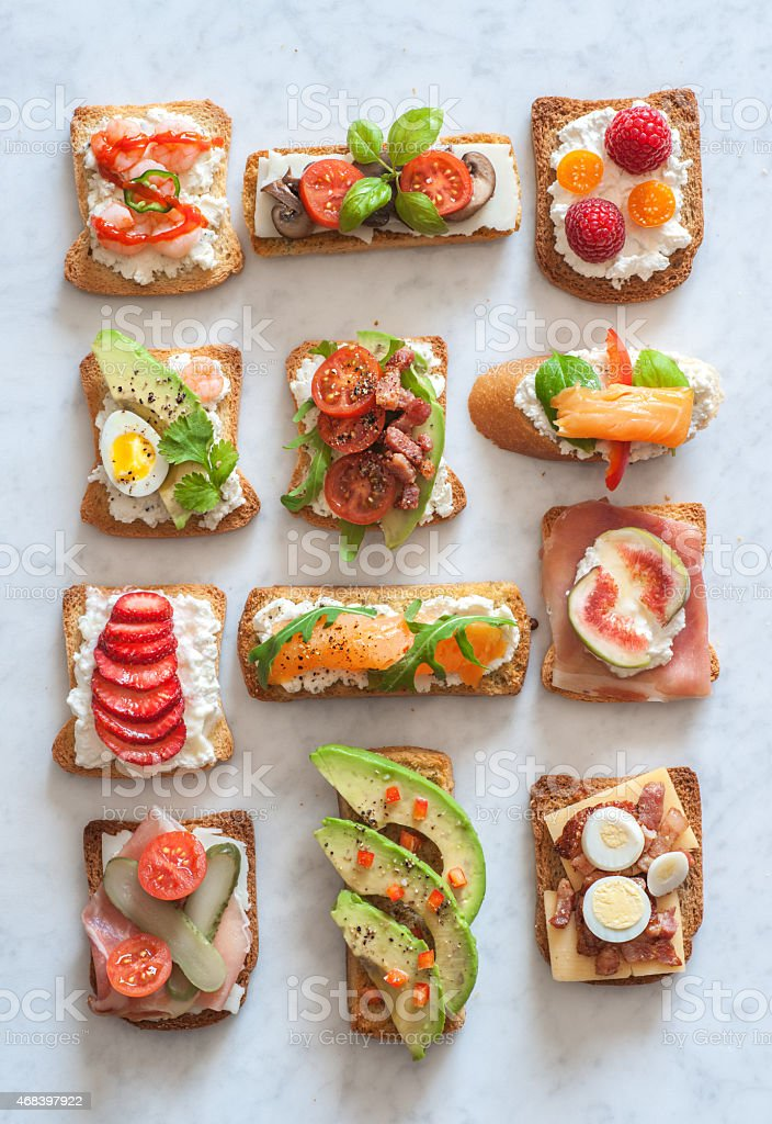 Tartines stock photo