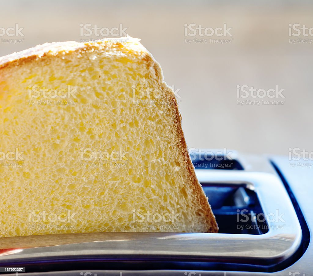 Toast popping from toaster royalty-free stock photo