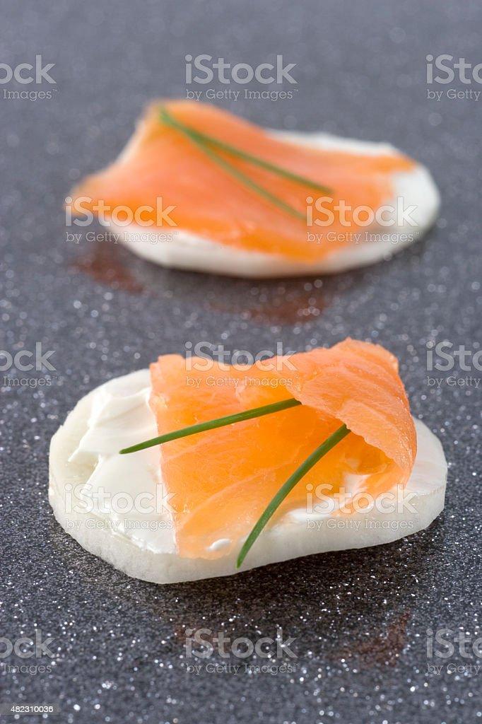 Toast Salmon stock photo