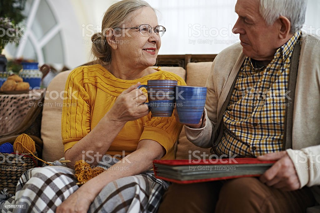 Toast to eternal love stock photo