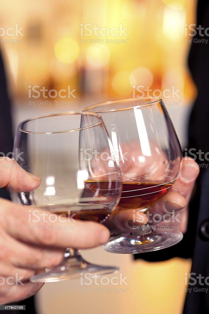 Toast to success. royalty-free stock photo