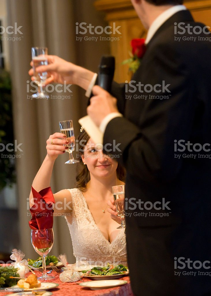Toast to the Bride royalty-free stock photo