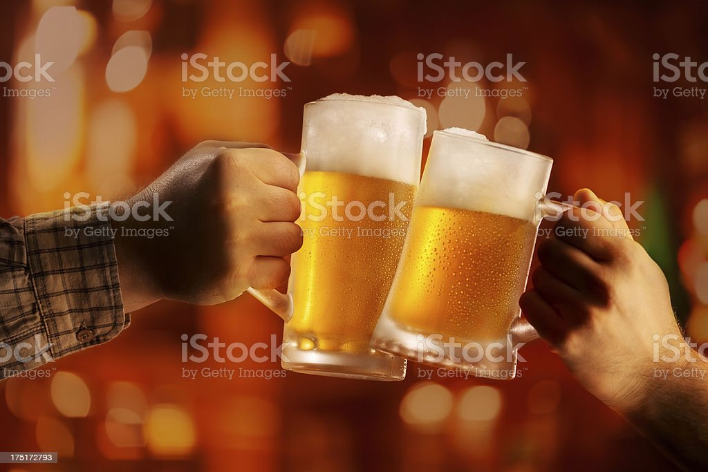 Toast with beer royalty-free stock photo