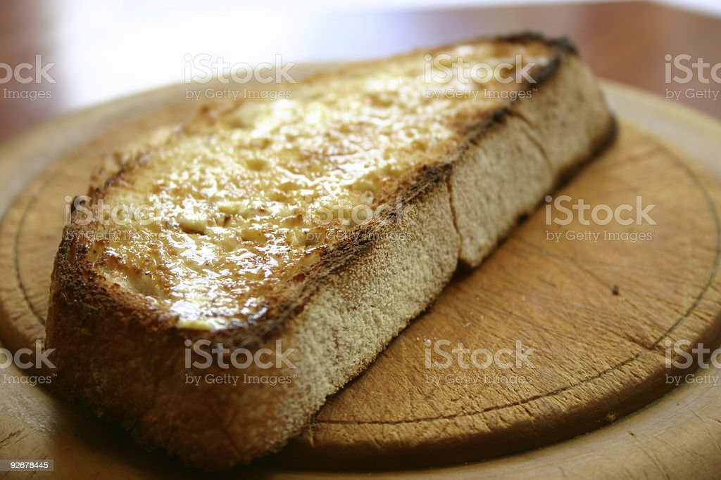 Toast with Butter royalty-free stock photo