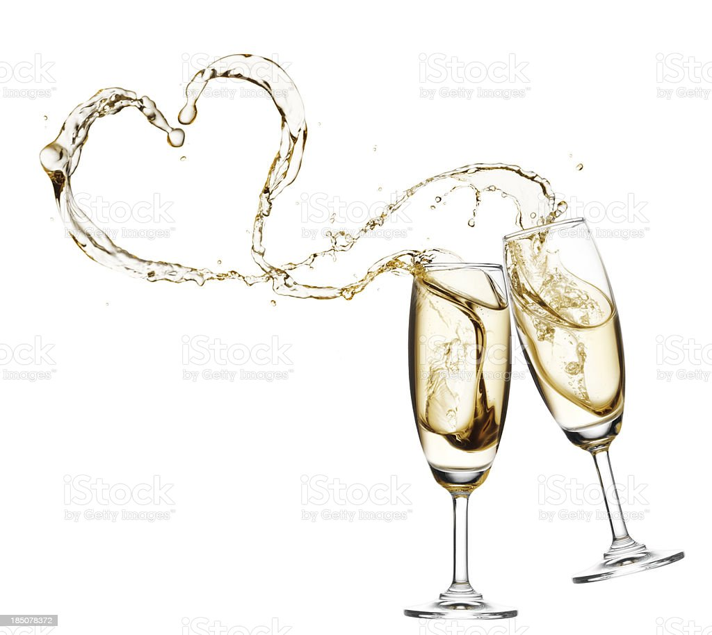 toast with champagne stock photo