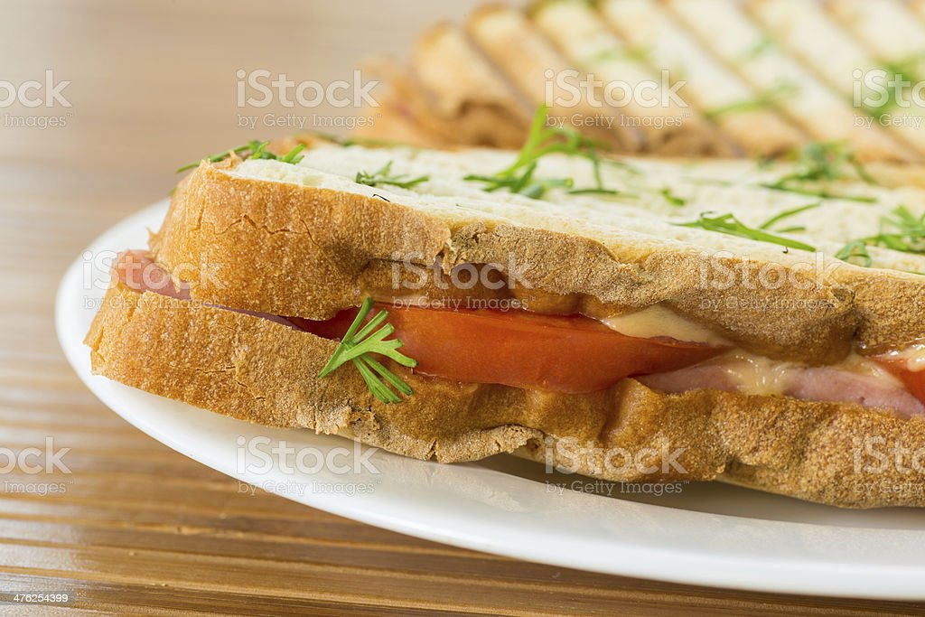 toast with cheese royalty-free stock photo