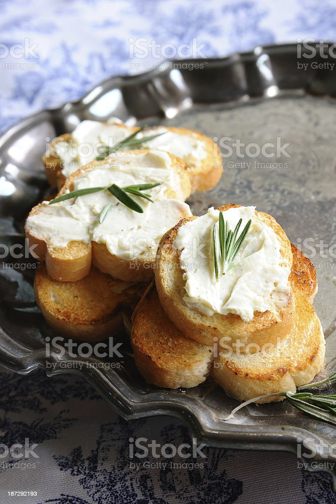 Toast with Cream Cheese royalty-free stock photo