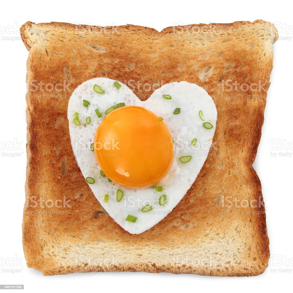 Toast with egg stock photo