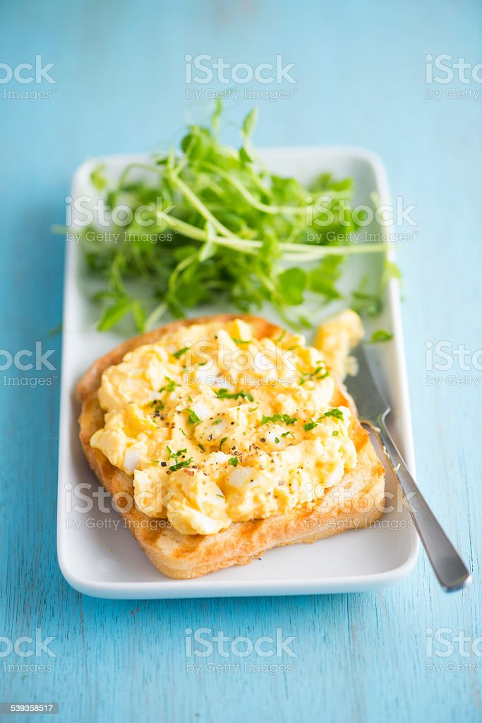 Toast with Egg Salad stock photo