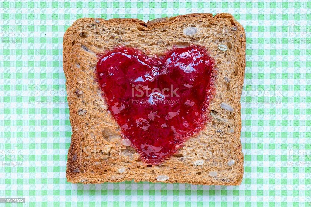 toast with heart stock photo