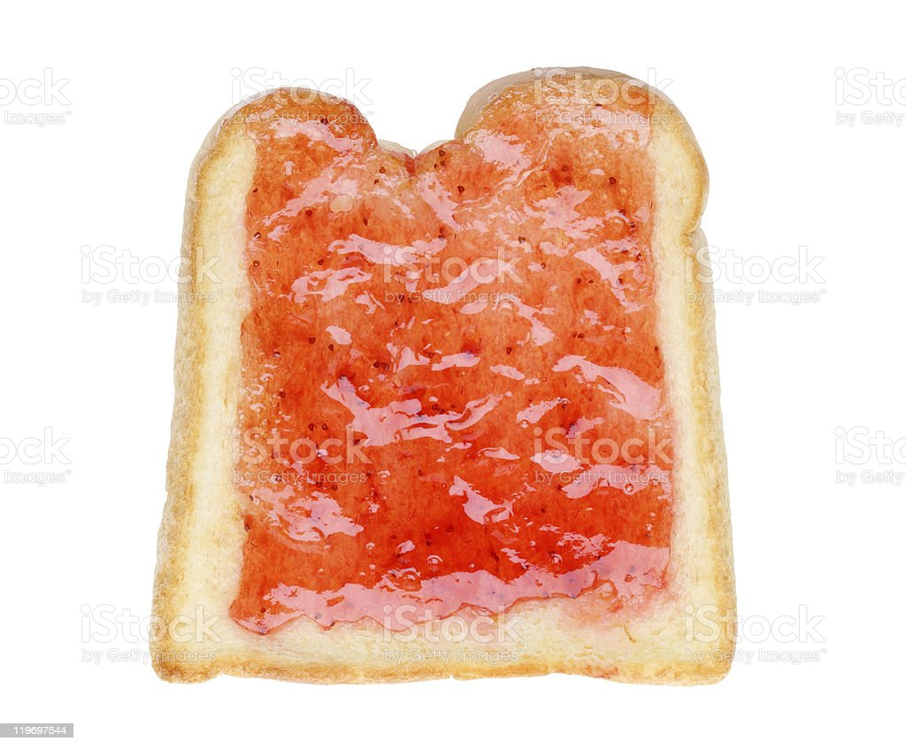 Toast with jam royalty-free stock photo