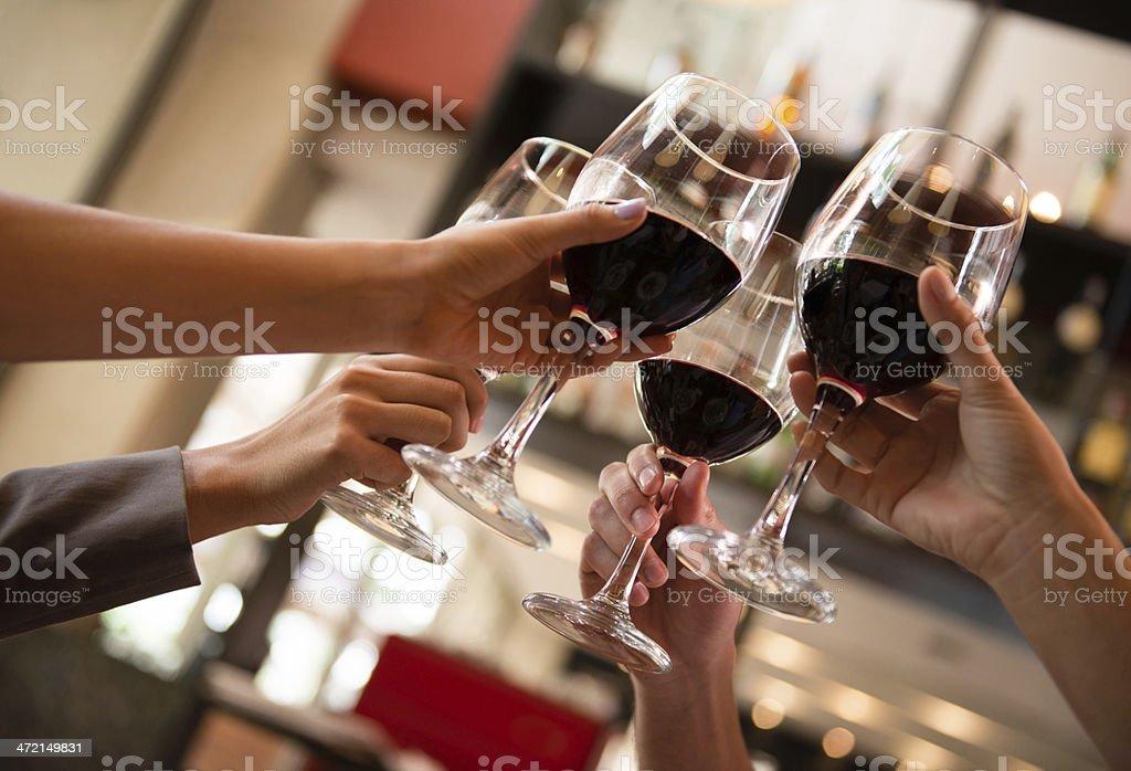 Toast with wine stock photo