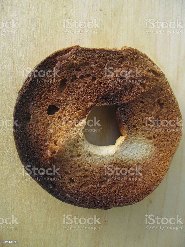 Toasted Bagel royalty-free stock photo