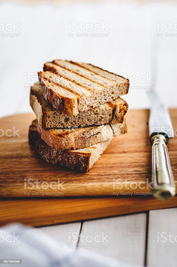 Toasted bread stock photo