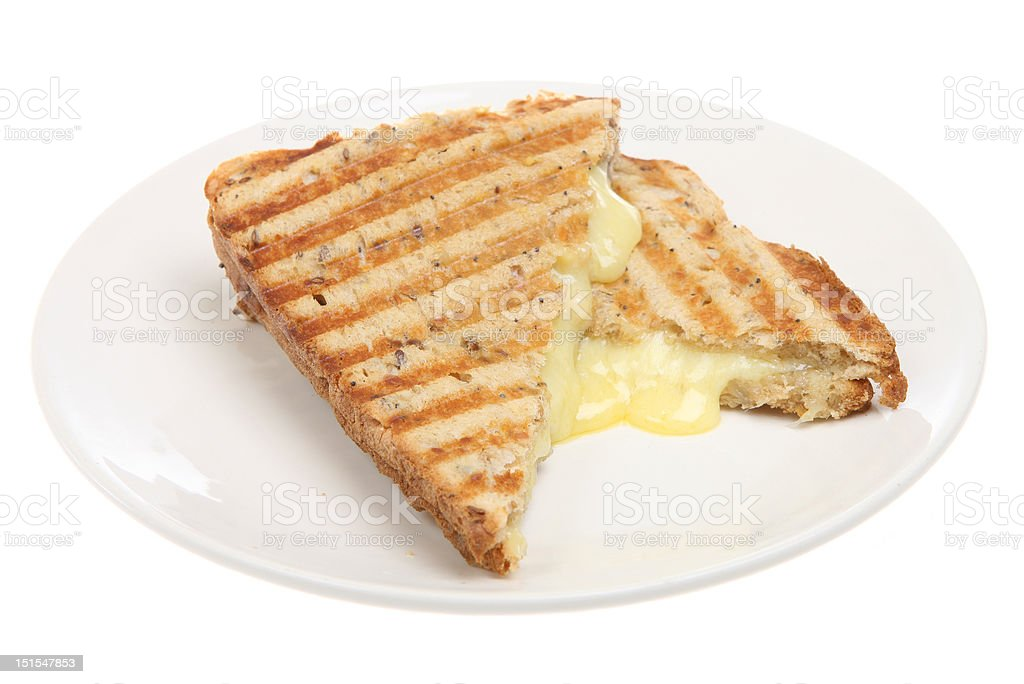 Toasted Cheese Pressed Sandwich stock photo
