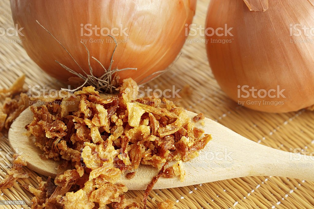 Toasted crispy onions royalty-free stock photo