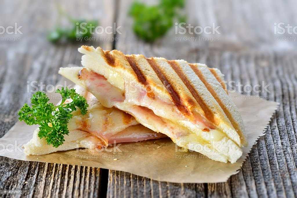 Toasted double panini stock photo