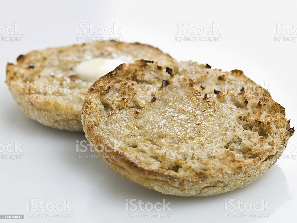 Toasted English Muffin stock photo