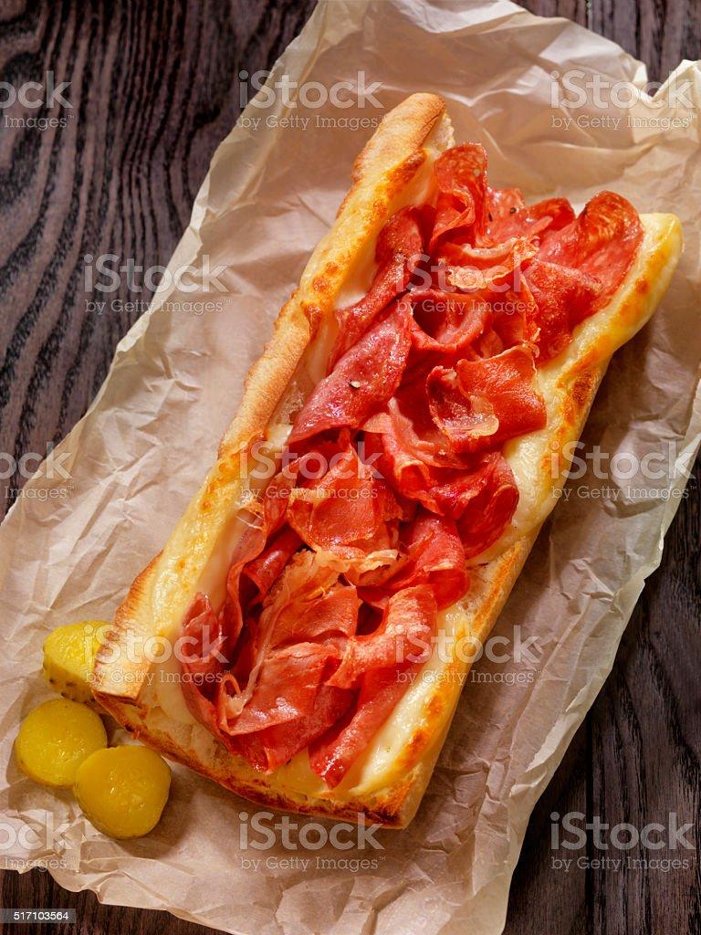 Toasted Italian Sandwich stock photo