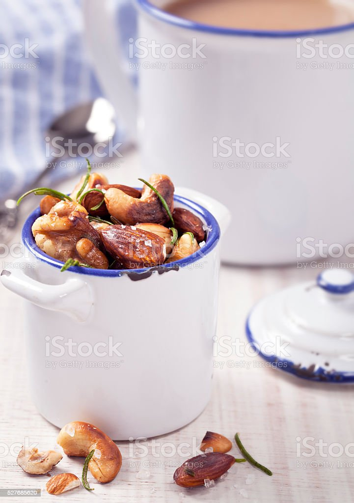 Toasted Nut Mix stock photo