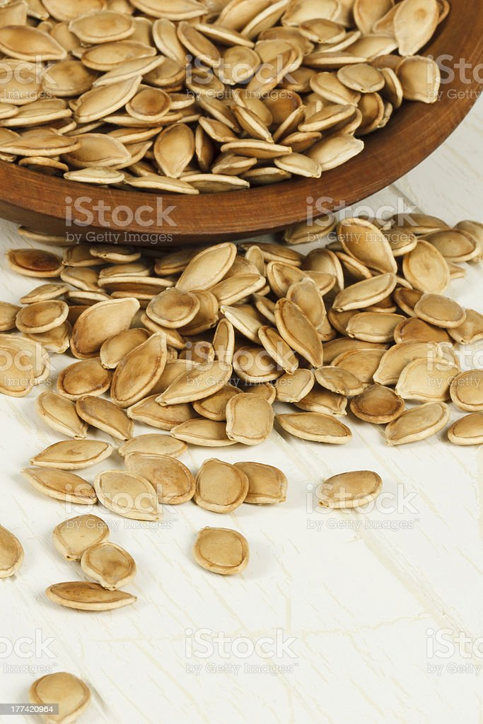 Toasted Pumpkin Seeds stock photo