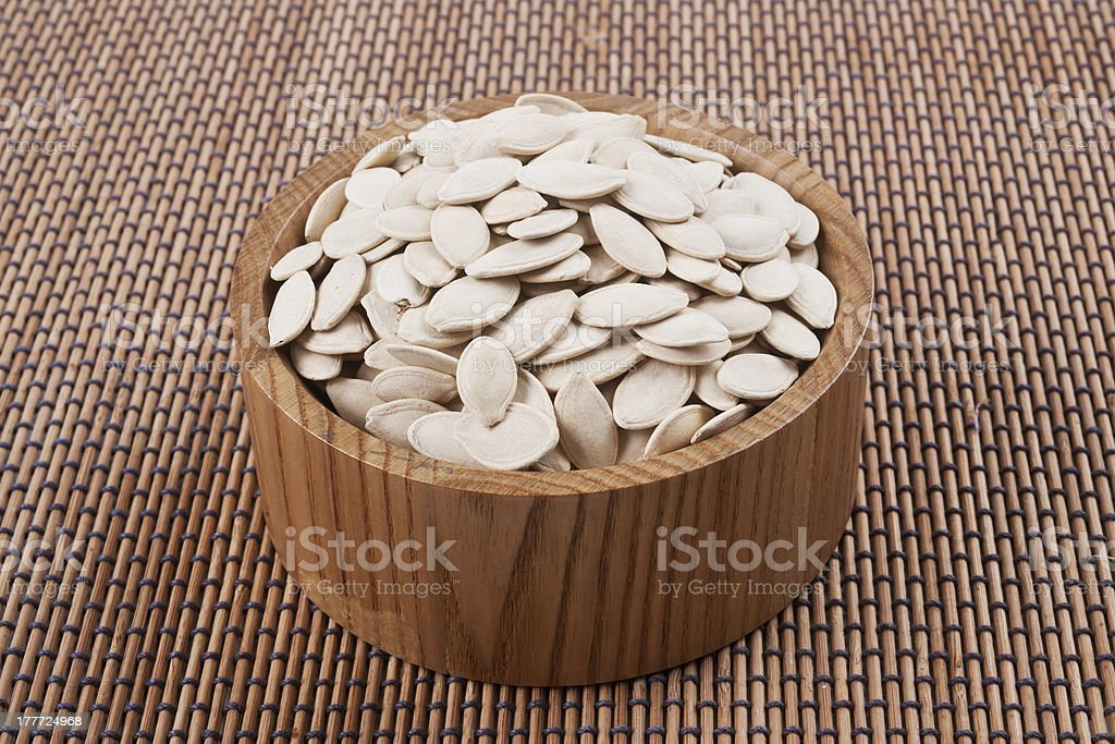 toasted pumpkin seeds royalty-free stock photo