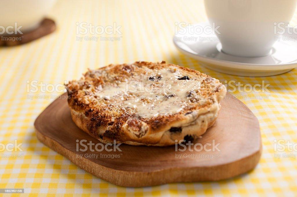 Toasted tea Cake stock photo