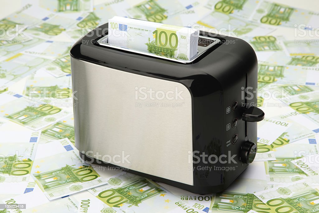 Toaster And Money royalty-free stock photo
