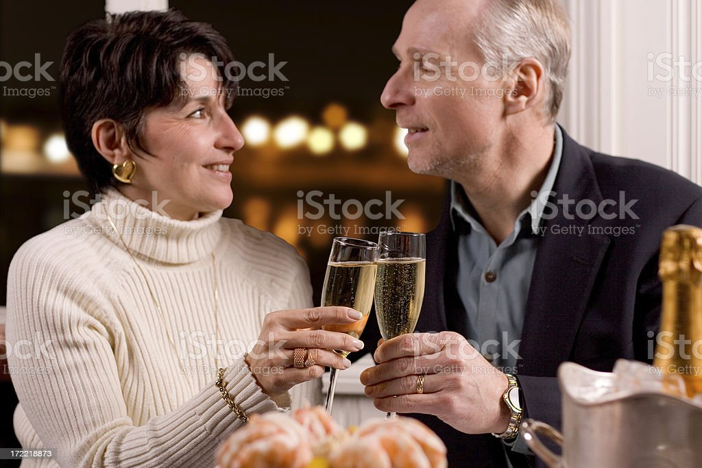 Toasting Couple royalty-free stock photo