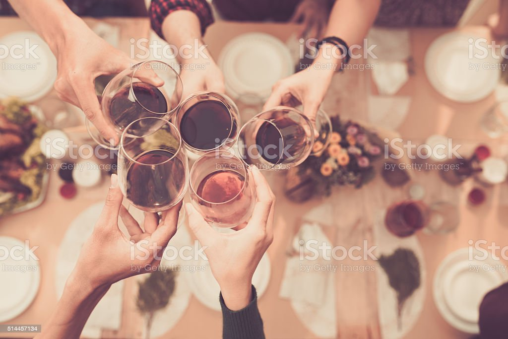 Toasting stock photo