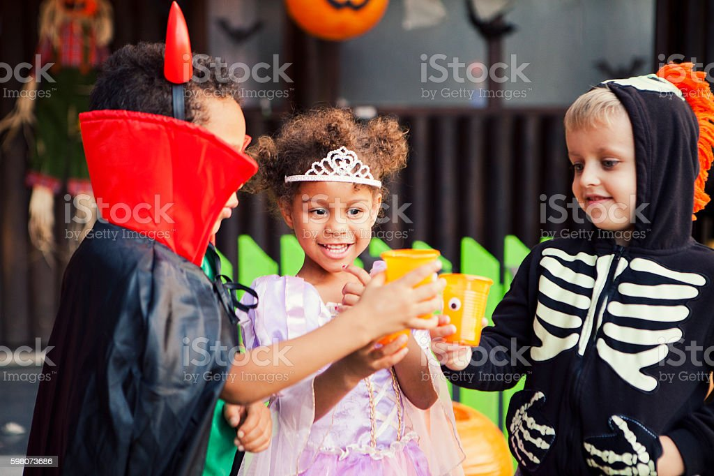 Toasting to Halloween stock photo