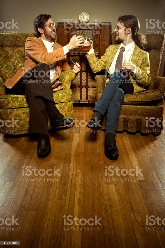 Toasting Vintage Business Men stock photo
