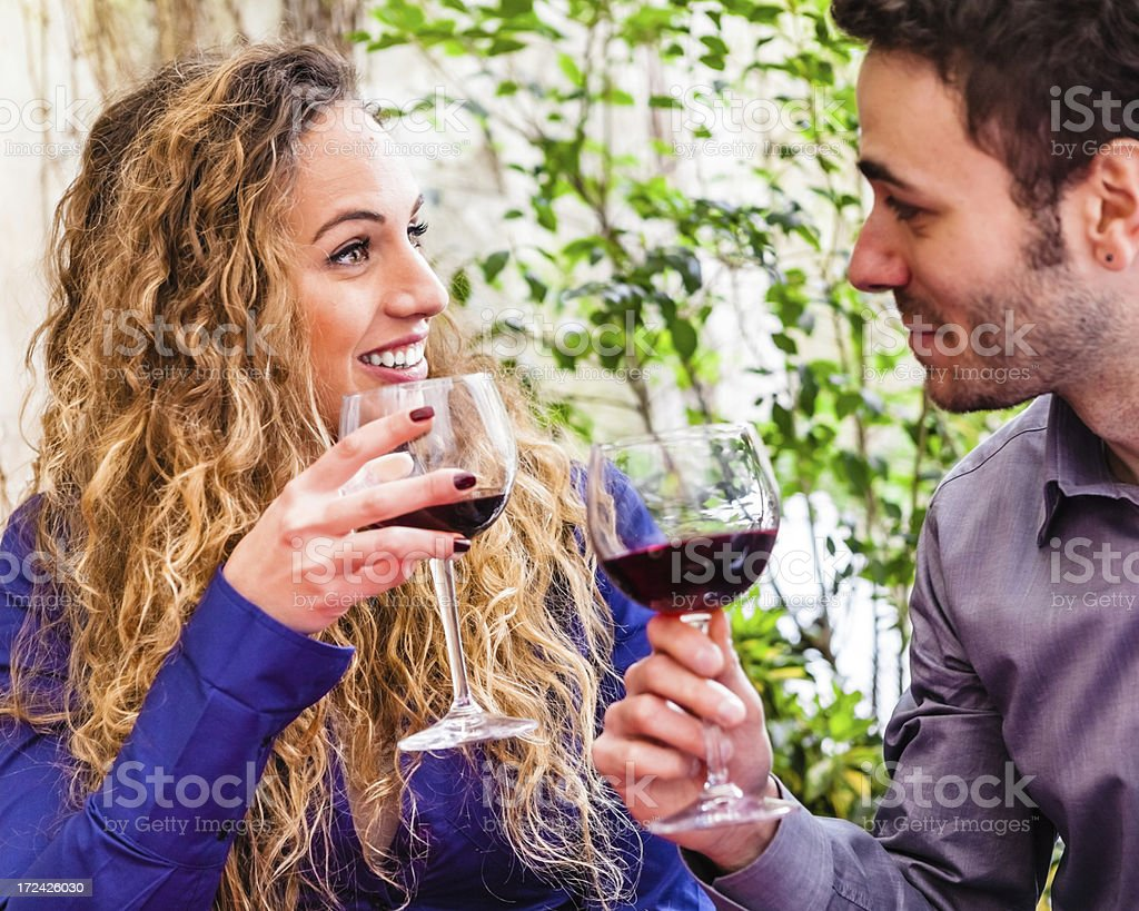Toasting with Red Wine royalty-free stock photo