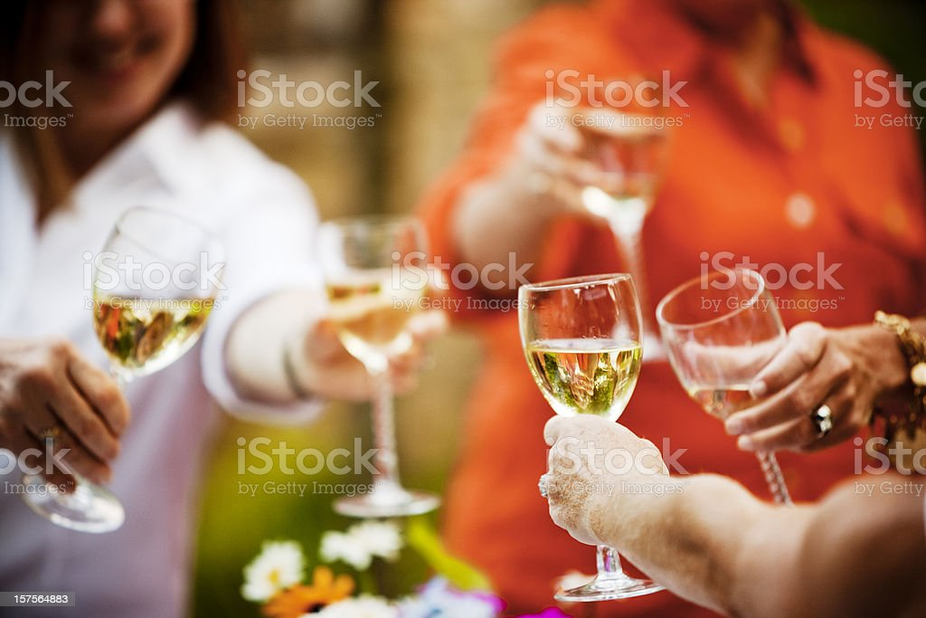 Toasting With Wine Glasses royalty-free stock photo