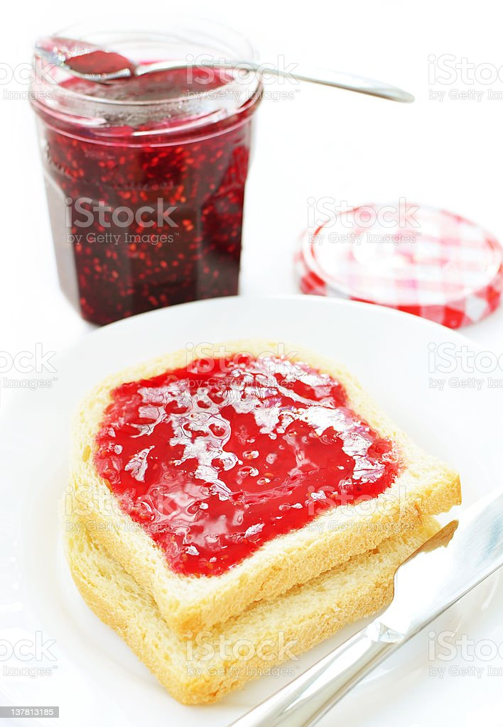 Toasts and jam royalty-free stock photo