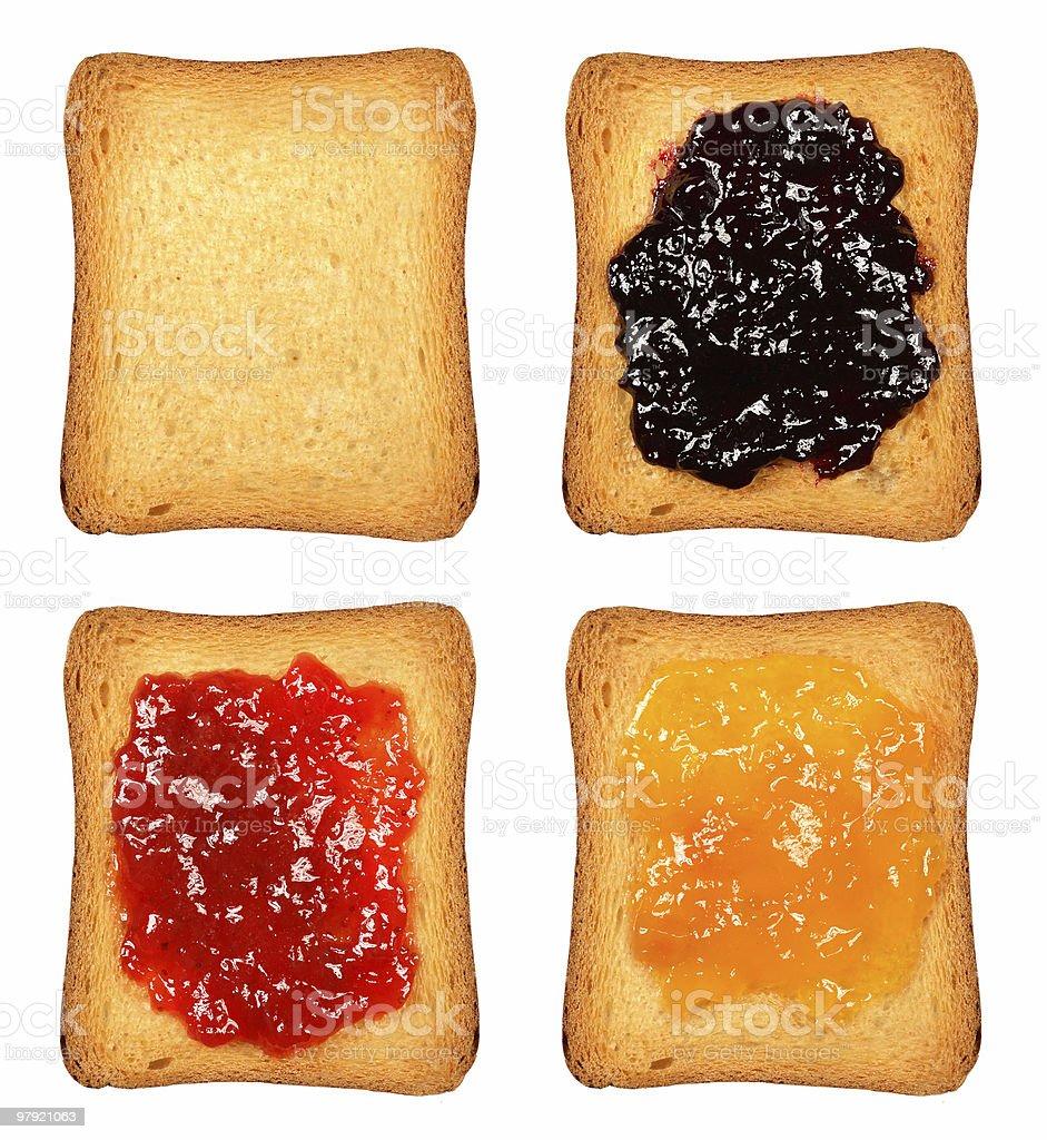 Toasts royalty-free stock photo