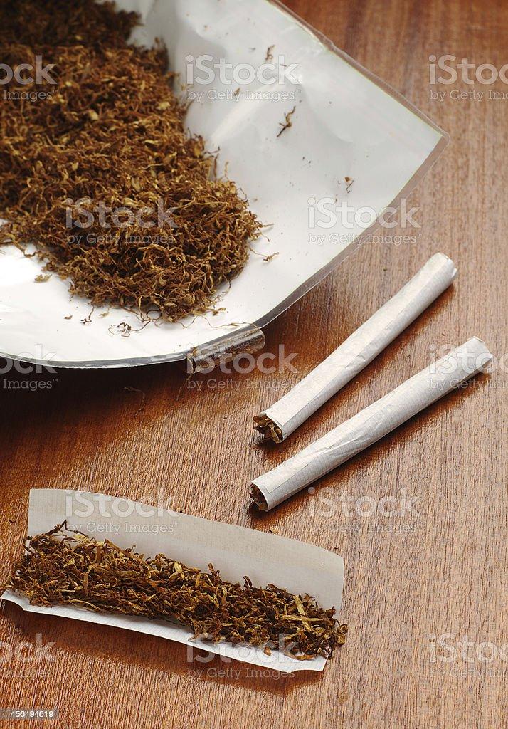 Laminado de los cigarrillos y del tabaco foto de stock libre de derechos