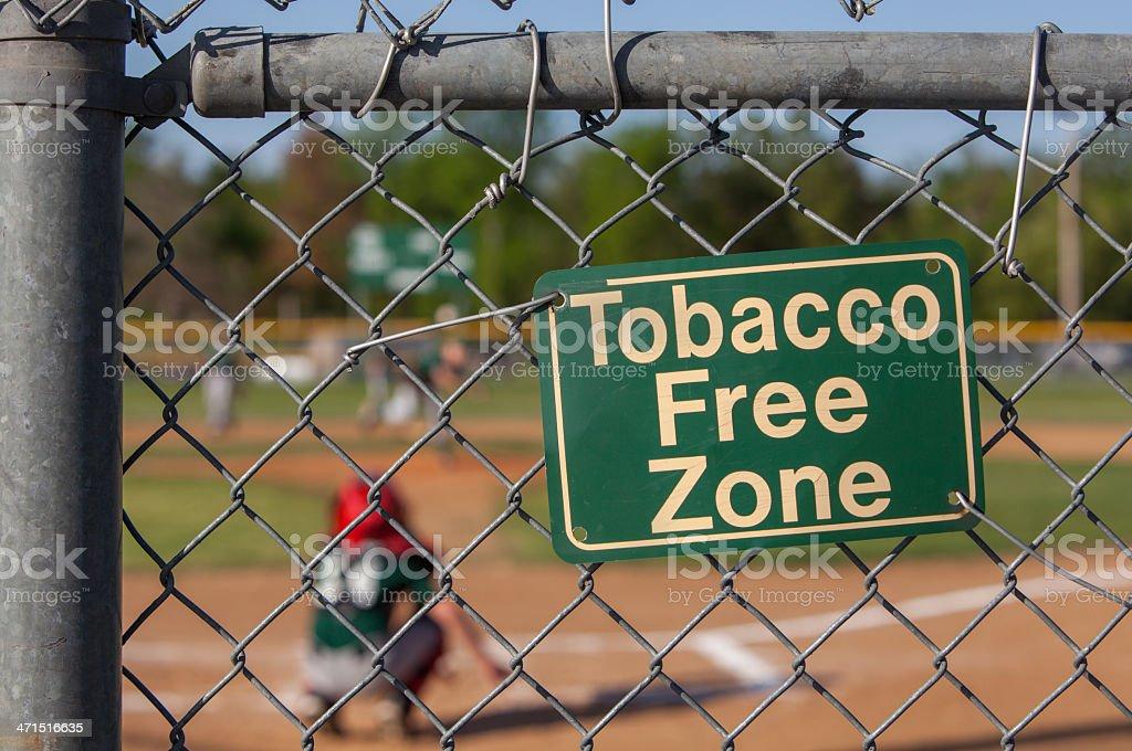 Tobacco free zone one stock photo