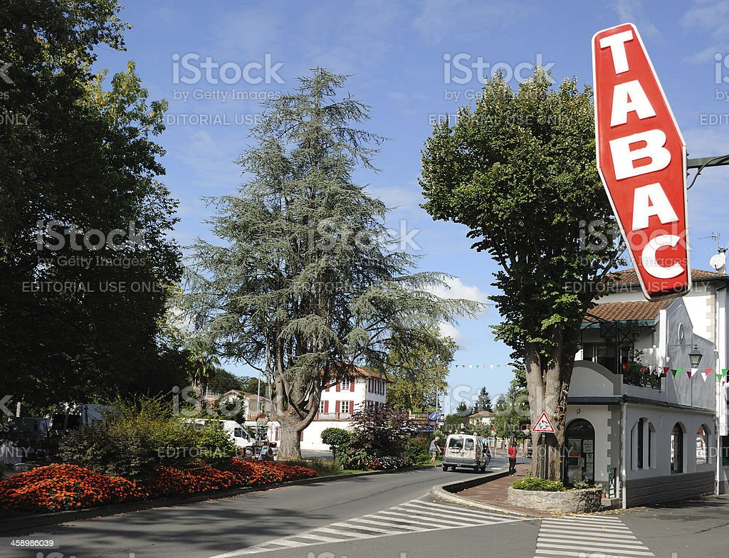 Tabac in Cambo-Les-Bains royalty-free stock photo