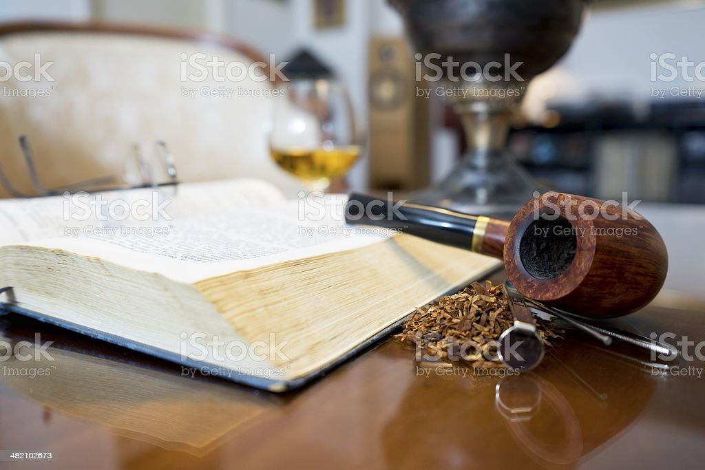 Tobacco pipe stock photo