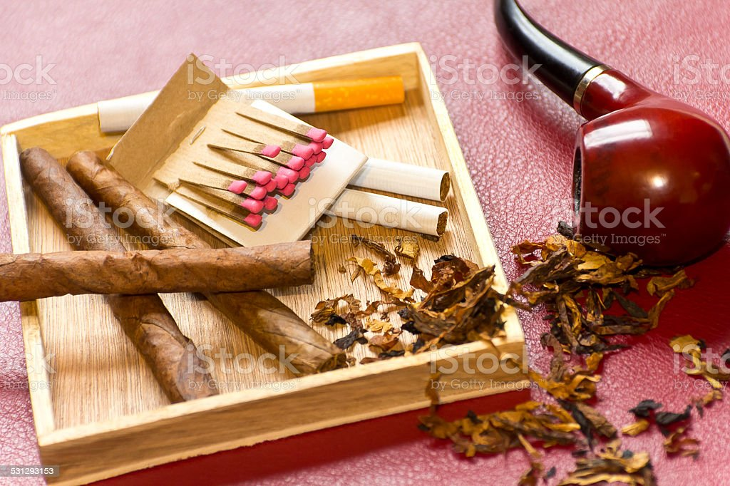 Tobacco Relaxation stock photo