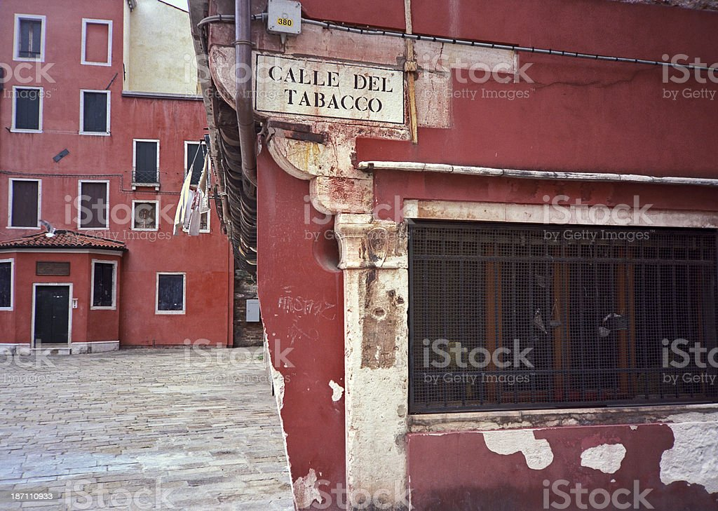 Tobacco street royalty-free stock photo