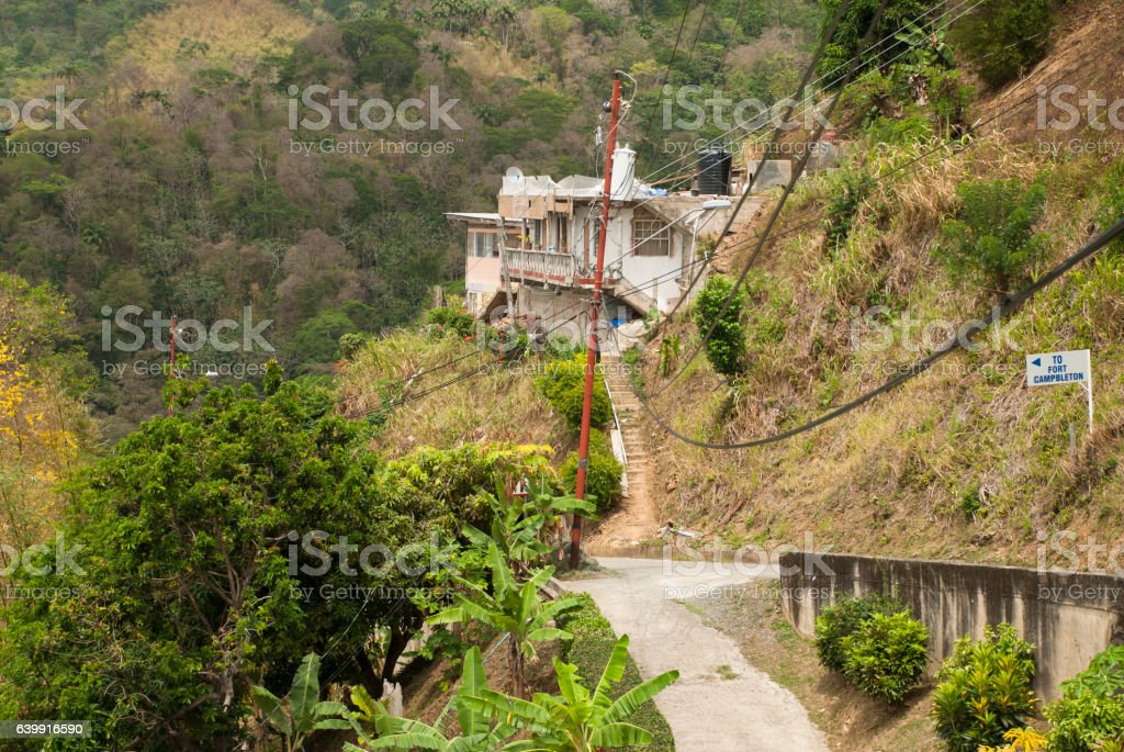 Tobago village stock photo