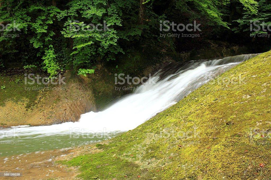 Tobendes Wasser stock photo