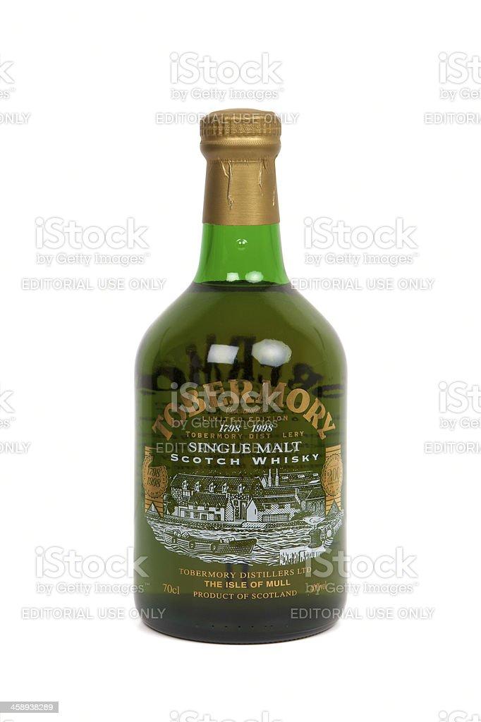 Tobermory bicentenary limited edition Single Malt Scotch Whisky royalty-free stock photo