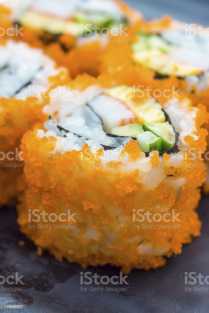 Tobiko Sushi stock photo