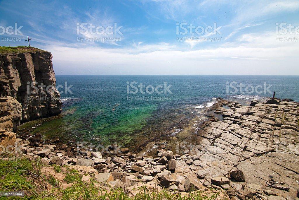 Tobizin cape in Vladivostok, Russia stock photo